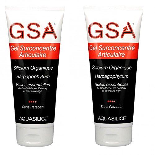 GSA - Gel concentrado para articulaciones de cilicio orgánico, 200 ml, lote de 2