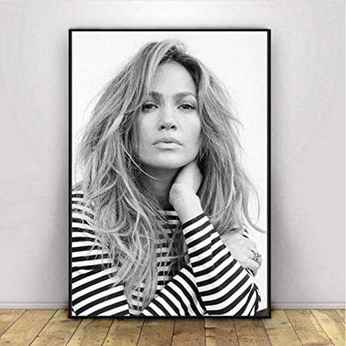 lubenwei Jennifer Lopez Poster Wall Art Prints Canvas Painting Wall Art Pictures Home Decor 40x50cm No frame AW-1422