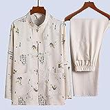 FZYE Juego de Tai Chi de Lino de algodón para Hombres - Artes Marciales de Traje Tradicional Chino T...