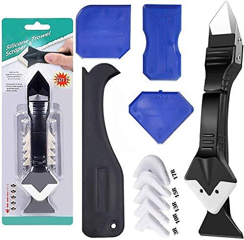 3 in1 Caulking Tool Kit, Silicone Caulk Tools, for Kitchen Bathroom Window and Sink Caulking...