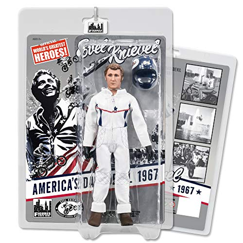 Evel Knievel 8 Inch Action Figures Series: Caesar's Palace Jumpsuit Variant