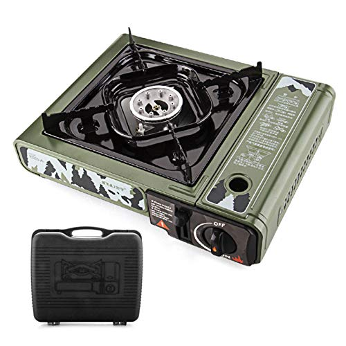 tanbea-UK CassetteFurnace Portable Propane and Butane Gas Stove with Single Burner and Carry Case For Outdoor Camping, CSA Certificated