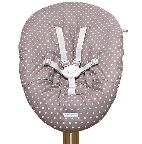 Blausberg Baby - Bezug für Babywippe Nomi Hochstuhl von Evomove - taupe Stern