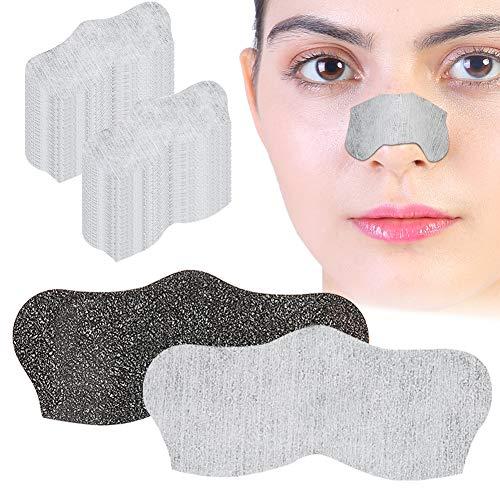 100 tiras de limpieza profunda para poros de puntos negros, removedor de puntos negros y tiras para desatascar poros para nariz y cara, barbilla, frente y piel de aspecto más saludable