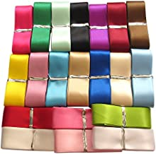 Chenkou Craft 20Yards 1 Single Face Polyester Ribbon 20 Colors Assorted Bulk Lots Mix