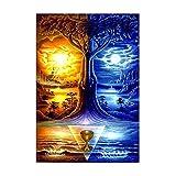 YINGXIN88 Rompecabezas para Adultos de 1000 Piezas, Cielo Rojo y Azul, niños Adultos, Juguete Educativo Intelectual, coleccionables de Bricolaje, decoración Moderna del hogar (75 x 50 cm)