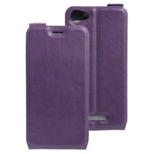 Litao-Case CN Hülle für WIKO K Kool hülle Flip Leder + TPU Silikon Fixierh Schutzhülle Case 3
