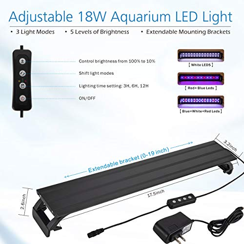 hygger Horizon 8 Gallon LED Glass Aquarium Kit for Starters with 7W Power Filter Pump 18W Colored led Light Wide View Curved Shape Fish Tank with Undetachable 3D Rockery Background Decor