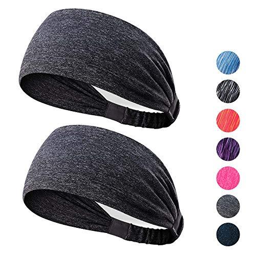 Kanpe Sport-Stirnband Nicht rutschende Sportschweißbänder Feuchtigkeitsabführende Kopfbedeckung Stirnbänder Perfekt für Radfahren, Laufen, Yoga, Fitnesstraining für Herren und Damen
