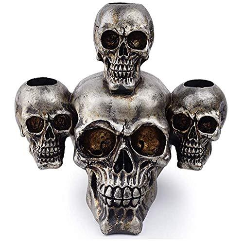 DMYY Scientific Schädel-Kopf-Muskel-Bone Modell Menschliches Anatomisches Modell Schädel Leuchter Halter Für Indoor Kühle Harz-Dekoration-Geschenk Halloween Tischdekoration Props