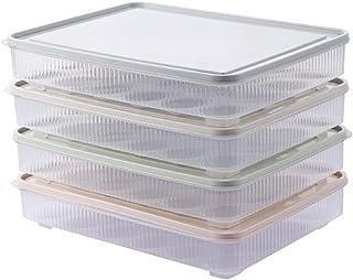 Lot de 4 boîtes de rangement en plastique pour œufs - Boîtes de rangement pour placards de cuisine - Récipients pour réfri...