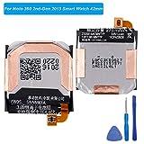 E-yiiviil FW3S Batterie de Rechange Compatible avec Moto 360 2nd-Gen 2015 SNN5971A Smart Watch 42 mm avec Outils
