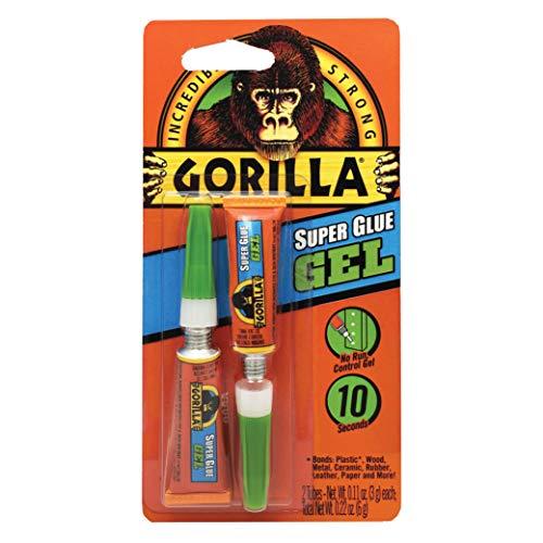 Gorilla (ゴリラ) 強力瞬間接着剤ジェル 3グラム入りチューブ2本 透明 (1パック)