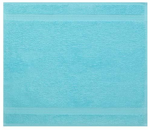Betz Serviette débarbouillette Lavette Taille 30 x 30 cm 100% Coton Premium Couleur Bleu Turquoise