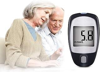 Fall Medidor de glucosa en Sangre, Glucosa en la Sangre Azúcar Kit de Prueba con Tiras codefree x 50 x 50 Painfree lancetas LCD de Gran tamaño de Pantalla Digital medidor de glucosa sanguínea