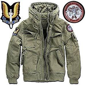 GEN.CON. Giubbotto Militare Forze Speciali SAS Inglese, Giacca Modello Corto, Uomo