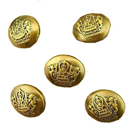 10 botones de bronce de imitación retros de los botones de la novedad de la insignia de los botones, A