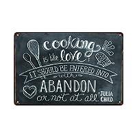 料理 金属板ブリキ看板警告サイン注意サイン表示パネル情報サイン金属安全サイン
