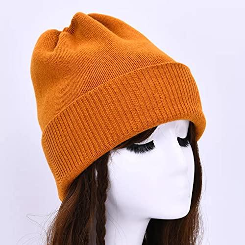 Dingyi Sombrero de Invierno Beanie de Punto Liso Otoño Invierno Cálido Suave Gorros Holgados Gorros Hombres Mujeres Sombreros de Calle
