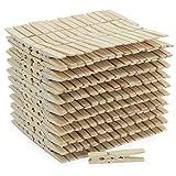 com-four® Lot de 300 Pinces à Linge Naturelles - Pinces à Linge Robustes en Bois de Bouleau de Haute qualité - Pinces à linges extérieurs (300 pièces)