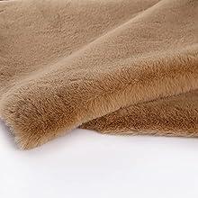 Yimihua Grueso y Suave Tela de Felpa Tela de Piel sintética Tejido de Lana para sofá cojín Fondo artesanía Materiales Bufanda DIY Costura muñecas Almohada Juguetes de Peluche(Color:Caqui)