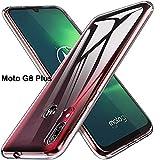 PaceBid Funda Compatible con Motorola Moto G8 Plus Funda Transparente Suave TPU Gel [Ultra Fina] [Protección a Bordes y Cámara] Enjaca Motorola Moto G8 Plus