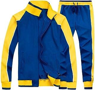 Tebreux Men's Tracksuits 2 Piece Outfit Jogging Suits Set Casual Long Sleeve Sports Sweatsuits