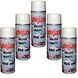 5 Lackspray Weiss matt 400 ml je Spraydose