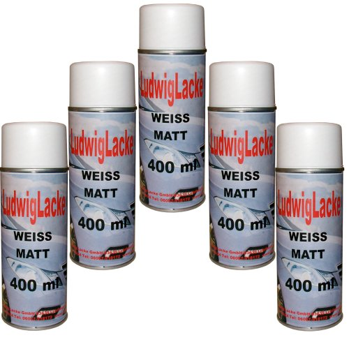 Standardspray 5 Lackspray Weiss matt 400 ml je Spraydose
