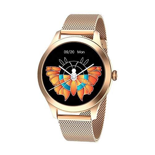 ZQD Damen Smart Watch,Runder Touchscreen IP68 wasserdichte Smartwatch für Frauen, Fitness Tracker mit Herzfrequenz- und Schlaf-Pedometer,Armband Für IOS/Android [Entwickelt for Frauen]