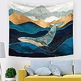 Brandless Montaña Puesta de Sol Tapiz Paisaje Colorido Lago Noche Nube Colgante de Pared Decoración Impresa Dormitorio Sala de Estar Dormitorio