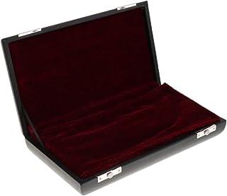 B Blesiya Exquisite Black Oboe Carry Shoulder Bag + Hard Wooden Case Container for Oboist Woodwind Instrument Parts