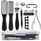 Pedicure Kit Foot File Rasp,Professional Pedicure Tool Set-Removing Hard/Cracked/Dead Skin Callus Corn Remover Foot Scraper,Stainless Steel Foot Care Tools for Men Woman Gift