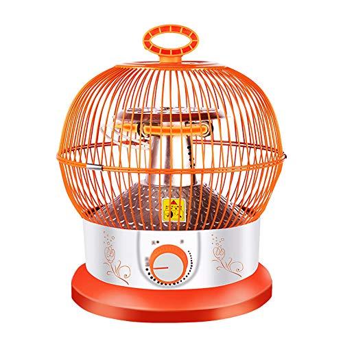 TYX-SS Calentador De Jaula De Pájaros, Calentadores Eléctricos Creativos De 900 W, Radiador Compacto, Ajuste Continuo De Temperatura...