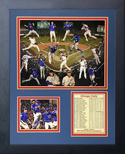 "Legends Never Die 2016 MLB Chicago Cubs World Series Champions Collage Framed Photo Collage, 11"" x 14"""