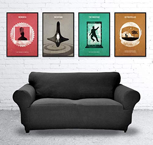 Inception, Memento, The Prestige and Interstellar Christopher Nolan Minimalist Movie Poster Set, Artwork Print, Cafe Decor, Office Decor, Wall Hanging, Home Decor, Unframed Print