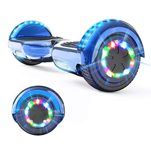 GeekMe Self Balancing Electric Scooter, Electric Hover Scooter Board, Balance Board 6.5 inch with Bluetooth Speaker, LED Lights, Gift for Kid, Teenager and Adult