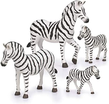 Terra by Battat Zebra Family Miniature Zebra Animal Toys for Kids 3 Years Old Up 4 Pc product image