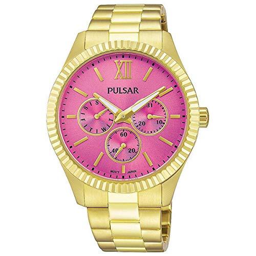Pulsar Reloj Analog-Digital para Womens de Automatic con Correa en Cloth S0322987