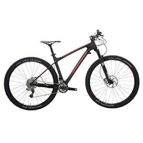 Steppenwolf Men's Tundra Carbon Race Hardtail Mountain Bike, 29 inch wheels, 18.5 inch frame, Men's Bike, Black/Red, 99% assembled