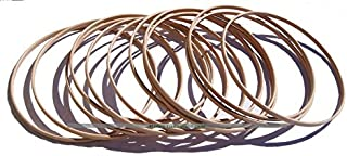 Masters Traditional Games Set of 12 Wooden Hoops for Hoopla (25cm Diameter)