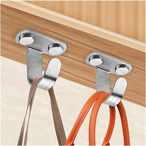 Ganchos Enganche de acero inoxidable suspensión soporte ganchos de pared luz de techo maceta colgando suspensión para jardín hardware de muebles de cocina Ganchos para pared (Color : 2pc)