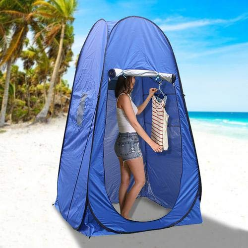 N/Y Pop Up Privacy Tent,UPF 50+ Sunblock Waterproof Camping Shower Tent Toilet Tent Changing Room for Outdoors Hiking Camping Long Trip(Blue)