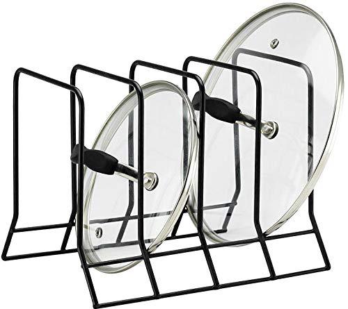Kitchen Bakeware Pot Lid Rack Holder Organizer Black