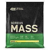Optimum Nutrition Serious Mass Proteina en Polvo, Mass Gainer Alto en Proteína, con Vitaminas, Creatina y Glutamina, Plátano, 16 Porciones, 5,45kg, Embalaje Puede Variar
