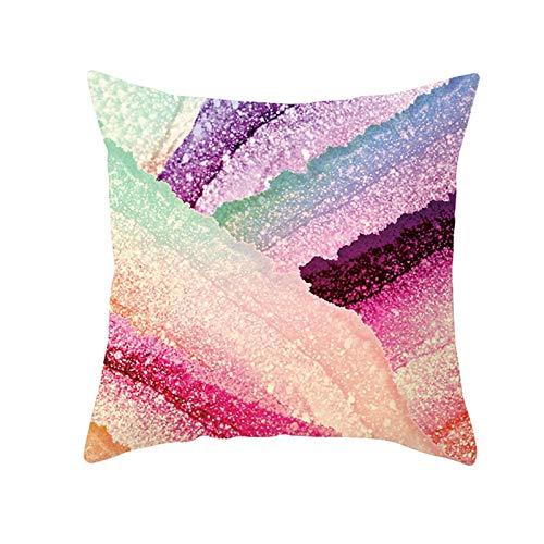 Ukilook Fundas de almohada de poliéster con forma de arco iris, fundas de cojín cuadradas suaves con funda de cremallera oculta, sin inserto para sofá de casa, moderno 40 x 40 cm.
