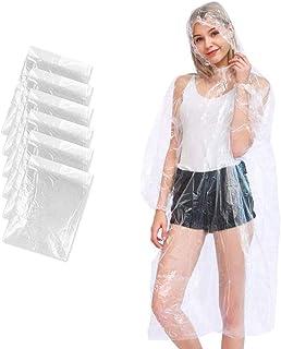 6 unidades de poncho de lluvia desechable, impermeable transparente con capucha para hombre y mujer, un poncho de lluvia t...