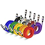 25 Feet XLR Cable Audio Cords- EBXYA 25ft Microphone Patch Cable Balanced, 10 Color Packs