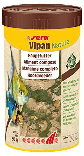Sera Vipan - Comida en Copos Normales, pienso para Peces Mejorado con Menos Carga del Agua y Algas, el clásico alimento para Todos los Peces Ornamentales en el Acuario 🔥