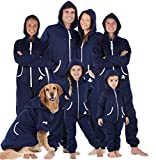 Joggies - Family Matching Oxford Blue Hoodie Onesies for Boys, Girls, Men, Women and Pets - Adult - Medium (Fits 5'8 - 5'11')
